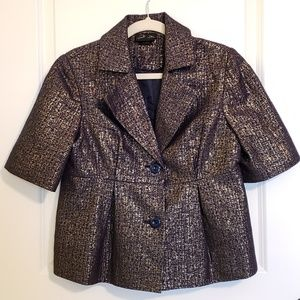 NEW Dollz Mettalic Short Peplum Jacket